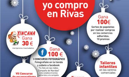 Campañas promocionales para disfrutar de la Navidad en los Comercios de Rivas Vaciamadrid