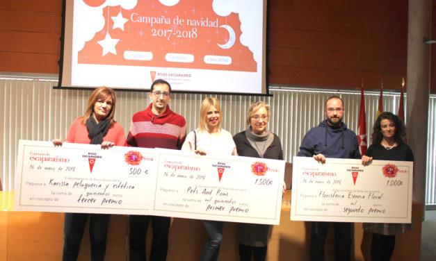 Rivas Vaciamadrid entregó los premios de las Campañas Promocionales Navideñas del pequeño comercio