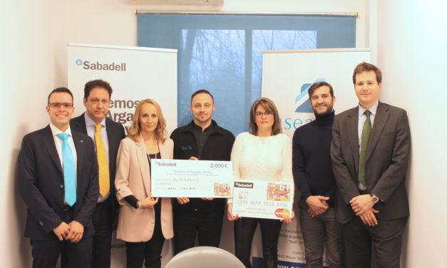 """Entregados los cheques de la campaña de Banco Sabadell """"Creemos en Arganda"""""""