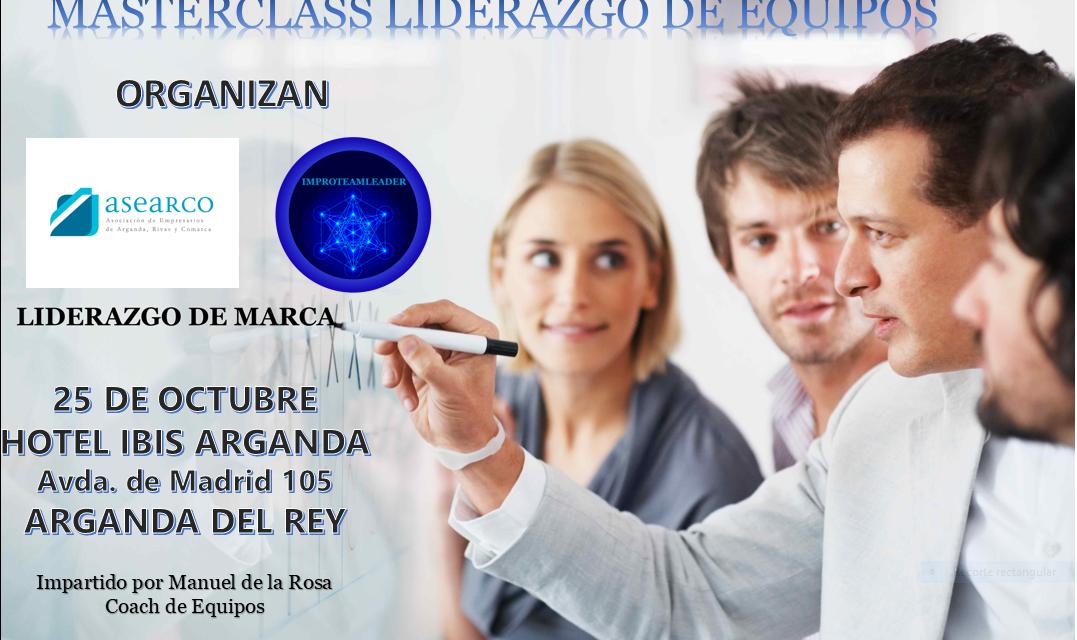 """La Master Class """"Liderazgo de Equipos"""", gratuita para empresas asociadas a ASEARCO, se celebrará el 25 de octubre"""