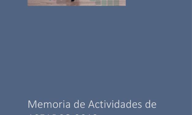 Memoria de Actividades de ASEARCO 2019