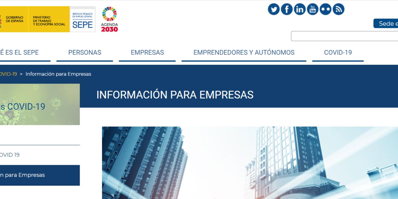 Las empresas se encargan de solicitar las prestaciones por desempleo de los afectados por ERTE