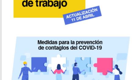 Guía de buenas prácticas en los centros de trabajo para prevenir contagios
