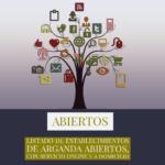 Arganda: ASEARCO publica el listado de establecimientos asociados que permanecen abiertos, online o dan servicio a domicilio