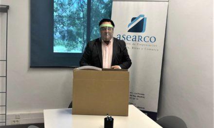 Cien Montaditos Arganda reúne 120 pantallas protectoras y las dona a empresas de la ciudad que las solicitaron en ASEARCO