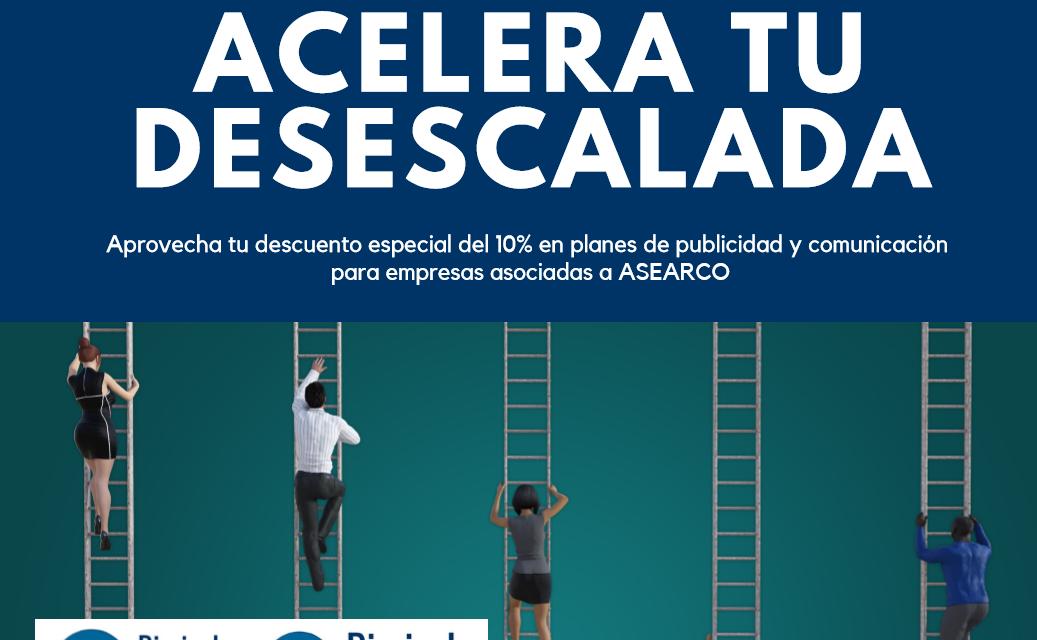Diario de Arganda y Diario de Rivas lanzan el Plan 'Acelera tu desescalada' con un 10% de descuento en estrategias de Publicidad y Comunicación para asociados a ASEARCO