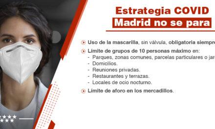 Nuevas normas establecidas por la Comunidad de Madrid para reforzar las medidas de prevención ante los brotes de Coronavirus