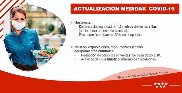 La Comunidad de Madrid anuncia nuevas restricciones que entrarán en vigor el próximo lunes, 7 de septiembre