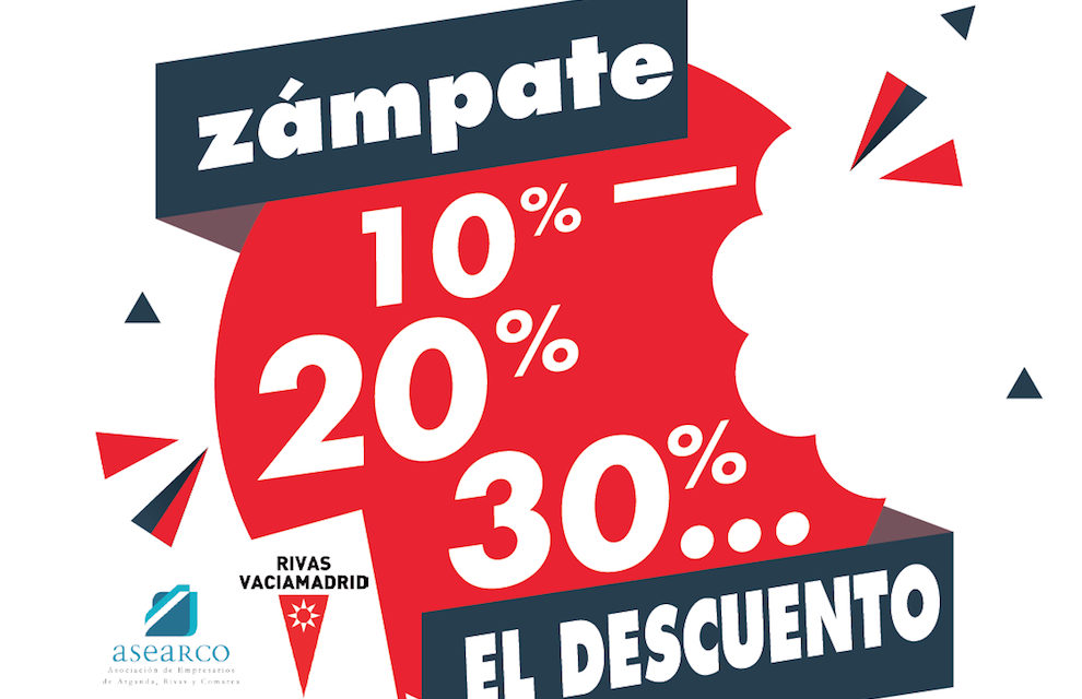 """Abierto el plazo de inscripción de """"Zámpate el descuento"""", una campaña para promocionar a los pequeños establecimientos comerciales y hosteleros de Rivas"""