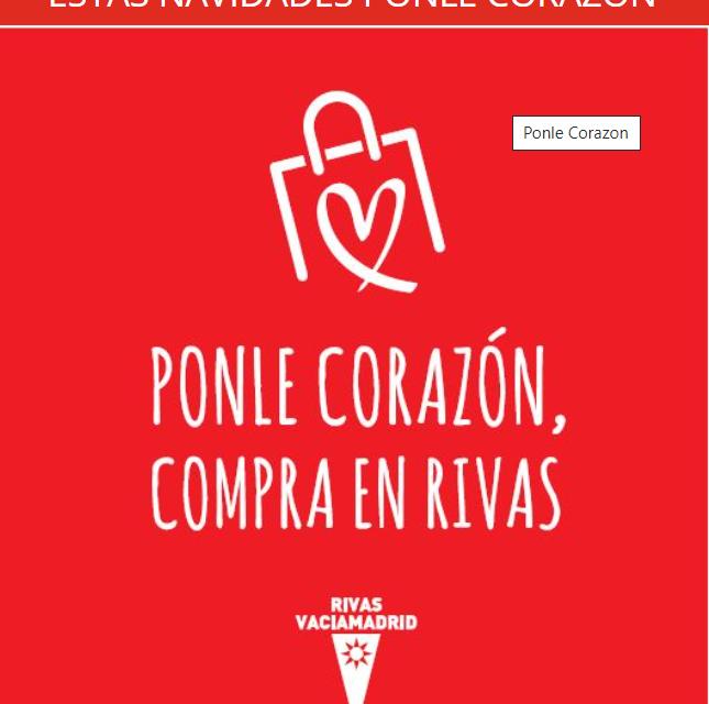 Presentada la campaña «Ponle corazón, compra en Rivas» del Ayuntamiento de la localidad