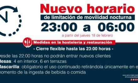 La Comunidad de Madrid retrasará el cierre de la hostelería a las 23 horas a partir del jueves, 18 de febrero