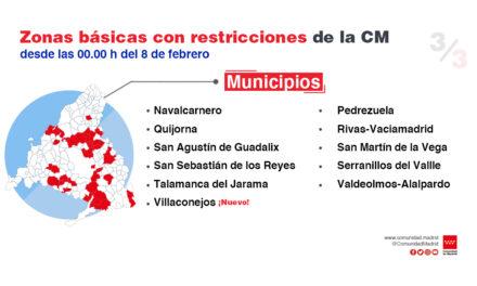 Rivas Vaciamadrid y Campo Real mantendrán una semana más su cierre perimetral