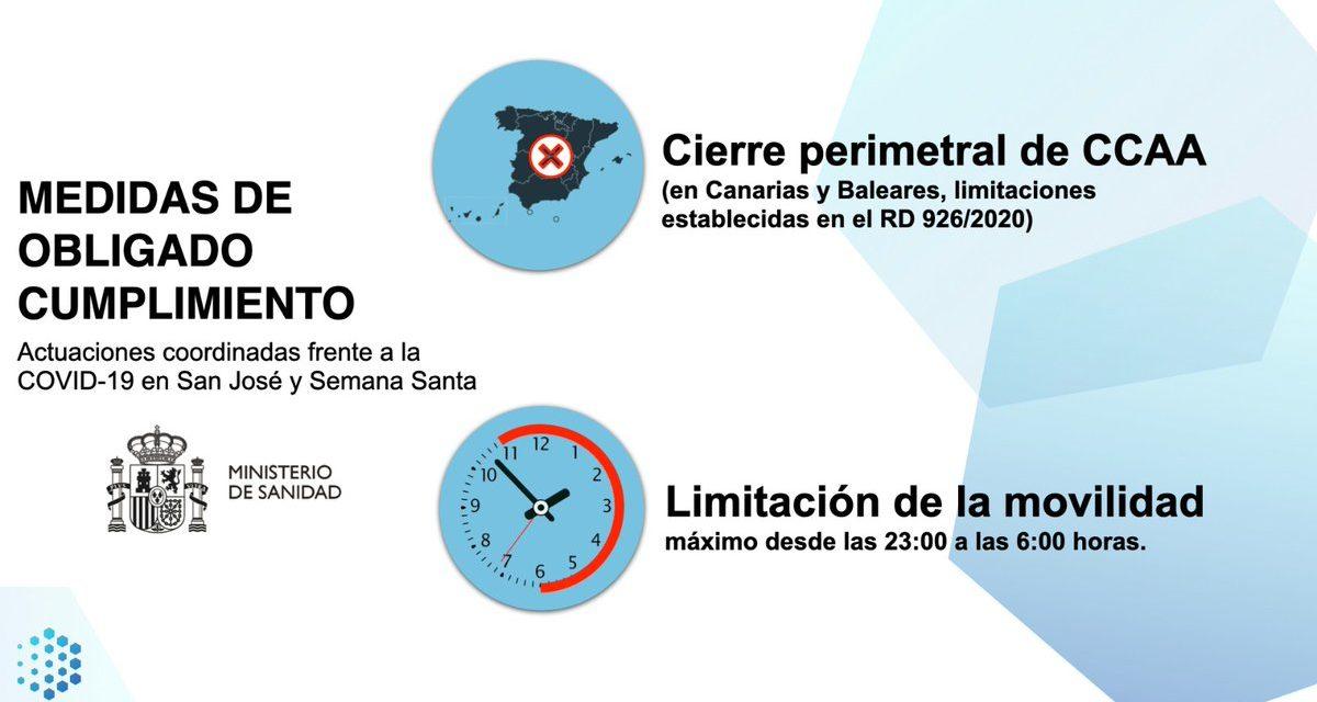 La Comunidad de Madrid quedará cerrada perimetralmente durante el puente de San José y Semana Santa