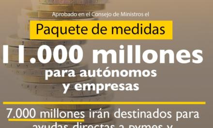 El Gobierno aprueba 7.000 millones de euros en ayudas directas para empresas y autónomos