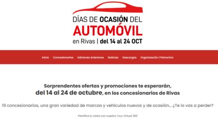 """Diecinueve concesionarios ofrecerán descuentos y promociones especiales en los """"Días de Ocasión del Automóvil en Rivas""""  (del 14 al 24 de octubre )"""