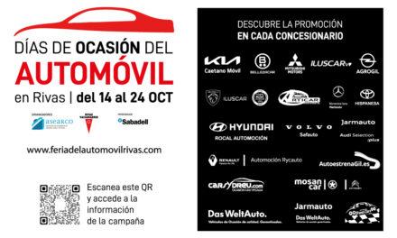 Arrancan hoy los 'Días de Ocasión del Automóvil en Rivas', una campaña promocional que se va a celebrar del 14 al 24 de octubre