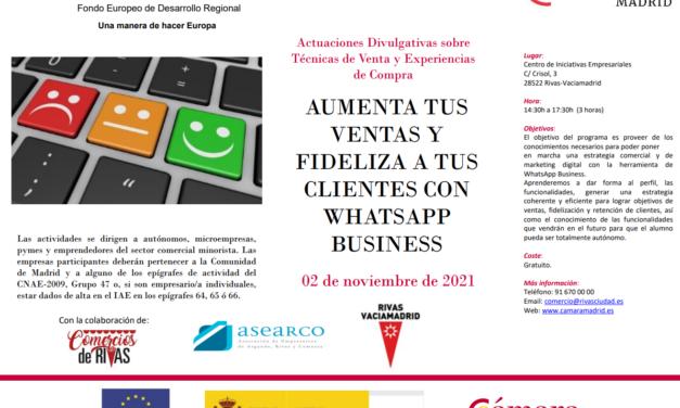 «Aumenta tus ventas con Whatsapp Business»: inscríbete en el taller formativo que se celebrará el 2 de noviembre